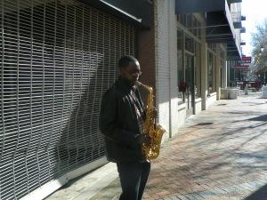 #038 Main Street Saxophonist
