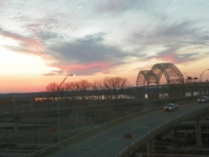 #044 Memphis Bridge Sunset